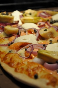 Lähimatkalla - Kylmäsavulohipizza