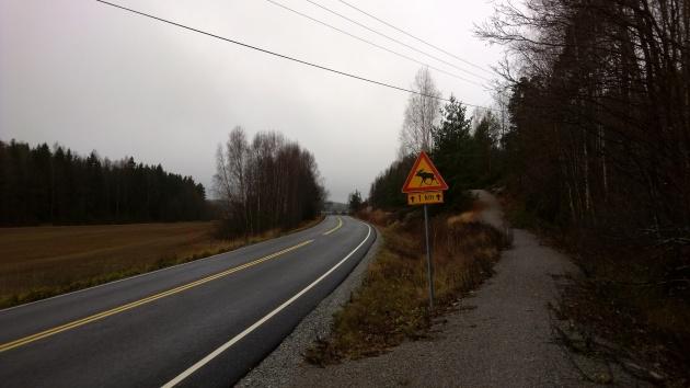 Pyöräilijän reisiä hellitään jyrkillä kumpareilla. Autoilijalle on onneksi tie tasoitettu.