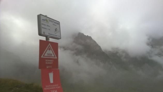 Kilometri jäljellä Tourmaletin huipulle ja vuoretkin näkyvät!